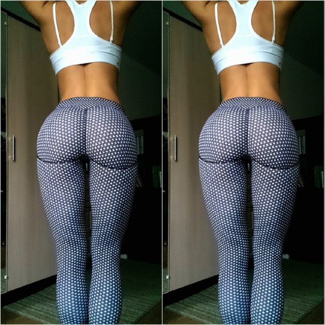 Sexy Women Sports Fitness Gym Yoga Stretch Pants Running -3500